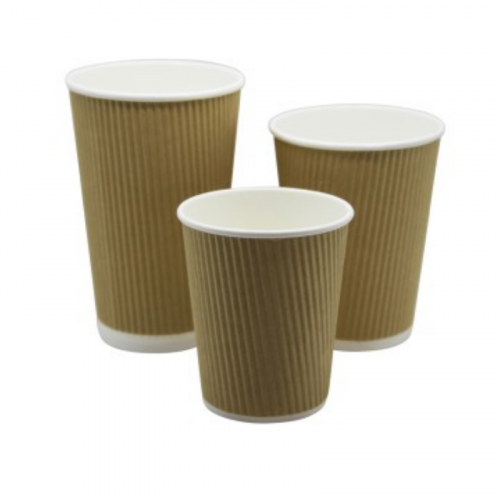 12oz Kraft Ripple Coffee Cup