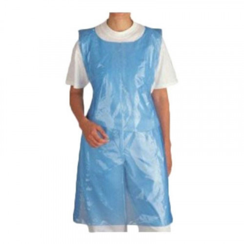 Blue polythene aprons