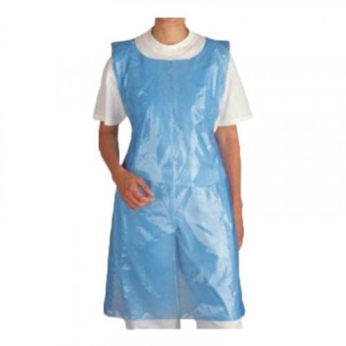Blue polythene aprons
