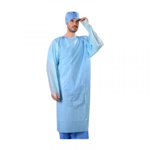 Blue Fluid resistant gown PPE