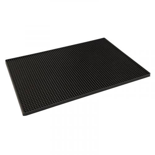Large Black Rubber Bar Mat 450mm x 300mm