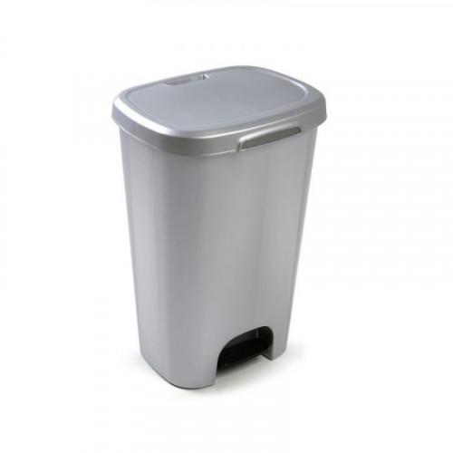 50L grey pedal bin