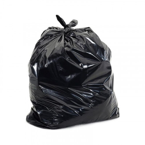 black medium duty bin bags