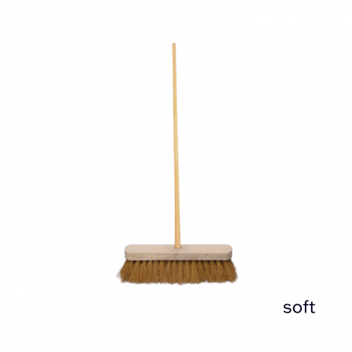 """12"""" Soft Sweeping Brush 4ft Staile"""