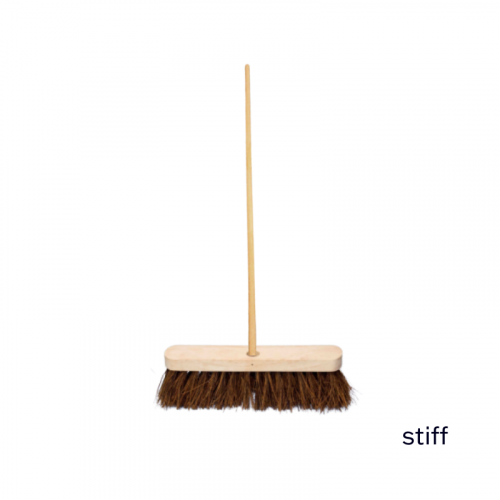 """12"""" Stiff Sweeping Brush 4ft Staile"""