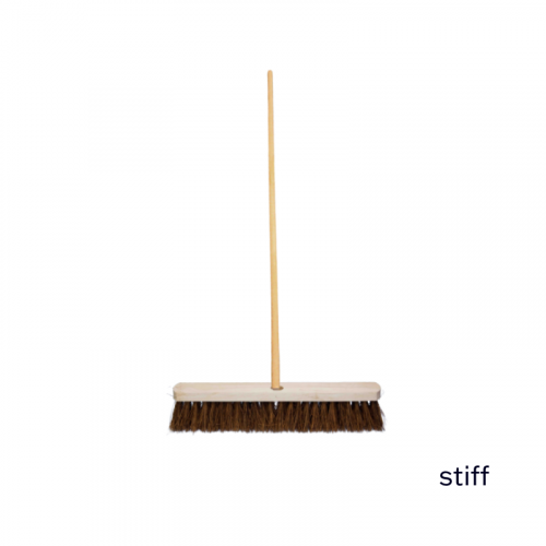 """18"""" Stiff Sweeping Brush 5ft Staile"""