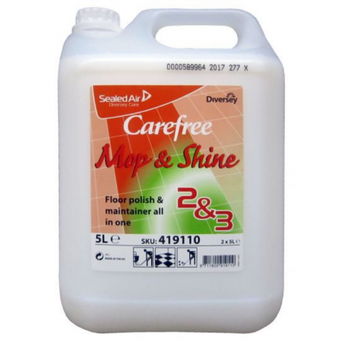 Carefree Mop & Shine Floor Polish 5L