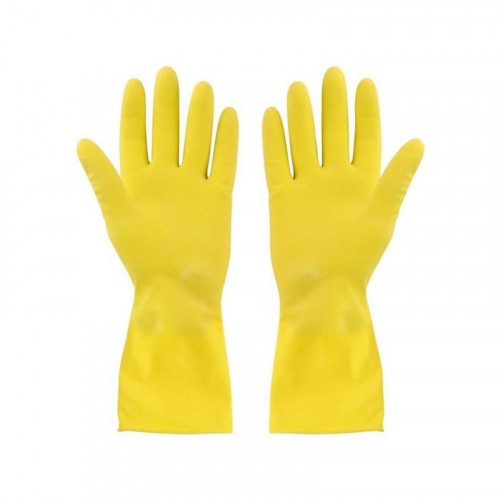 MEDIUM YELLOW HOUSEHOLD GLOVES