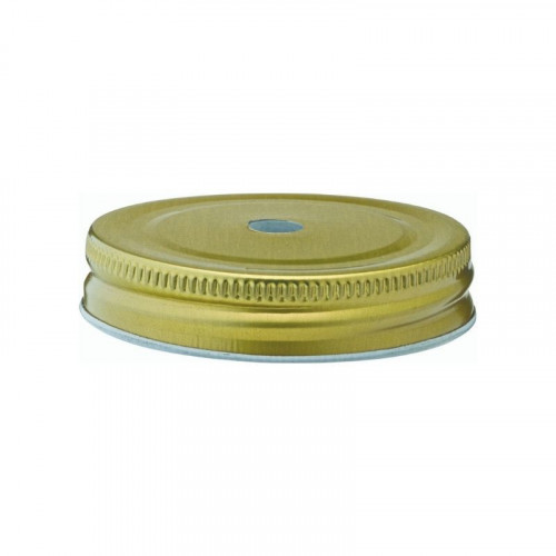 gold lid with straw hole
