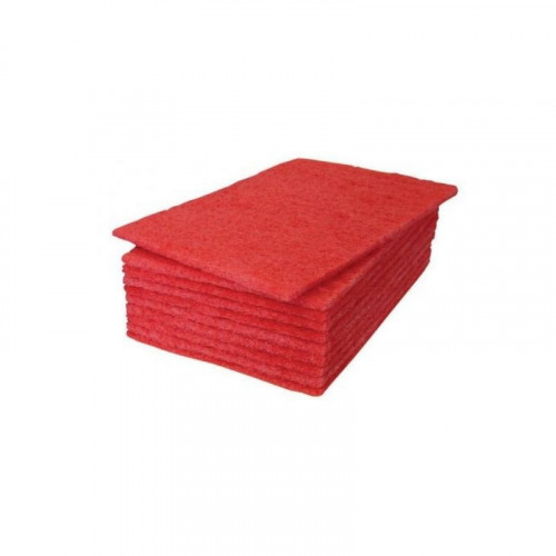"Red Scourer Pad 9"" x 6"" x 0.8cm"
