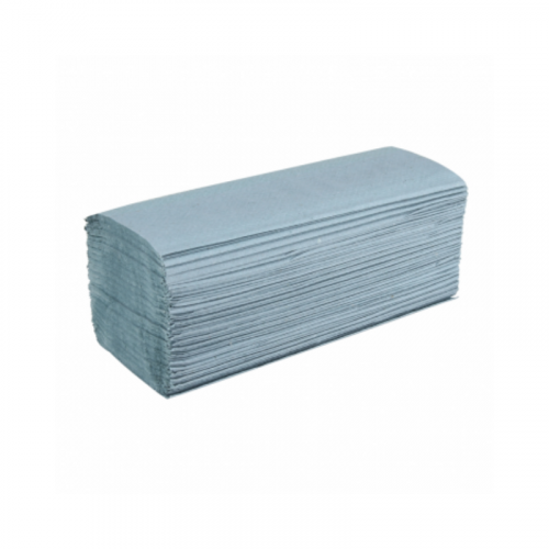 blue 1ply interfold hand towel