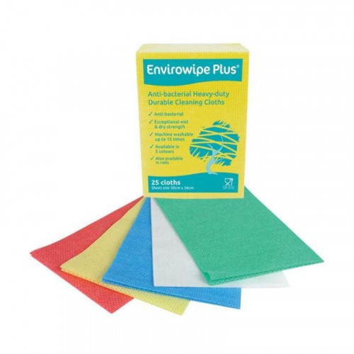 Red Envirowipe Anti-bac Cloth