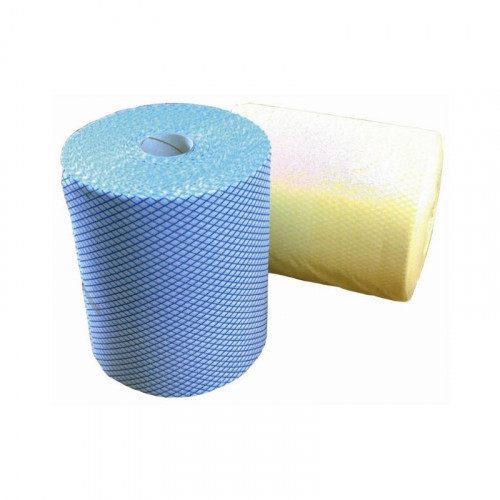 blue j cloth on a roll