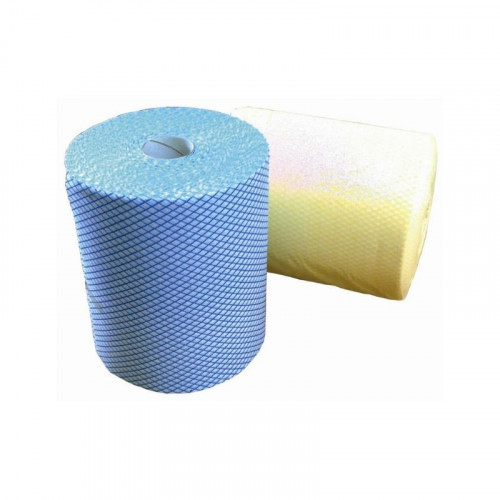 yellow j cloth on a roll