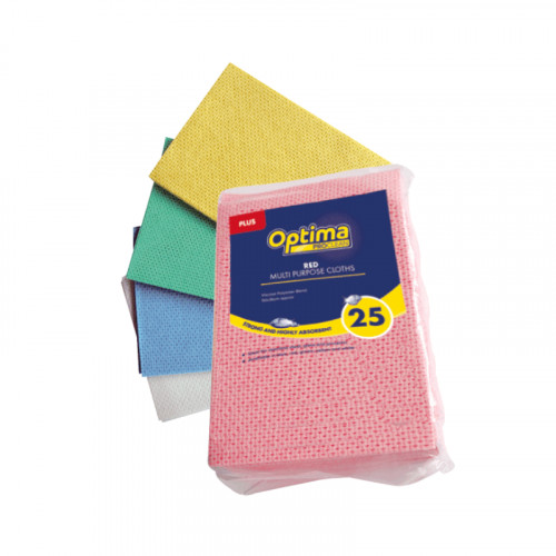 yellow optima plus anti-bacterial multi purpose cloth