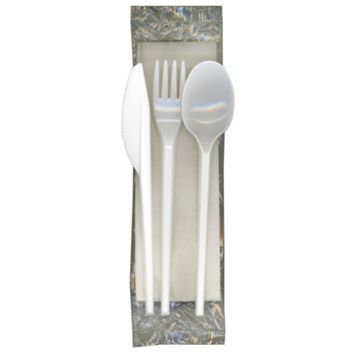 Wrapped Plastic Knife, Form, Spoon & Napkin
