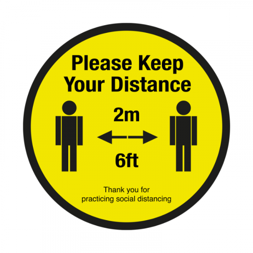 200mm 'Please Keep Your 2m Social Distance' SD025