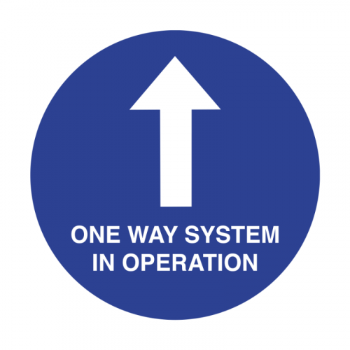 200mm 'One Way System' Floor Graphic SD031