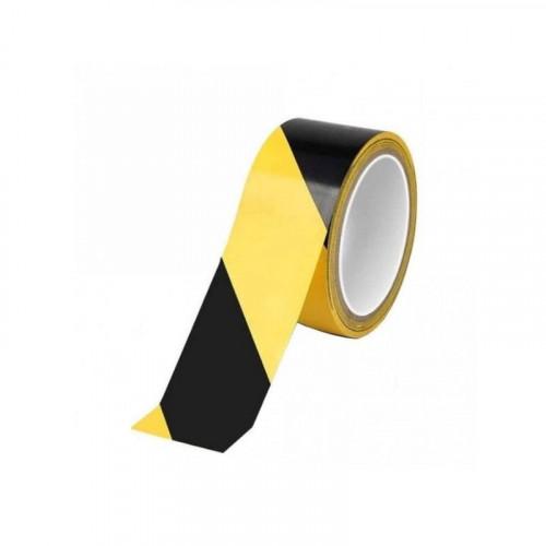 Black / Yellow Hazard Tape 50mm x 33m