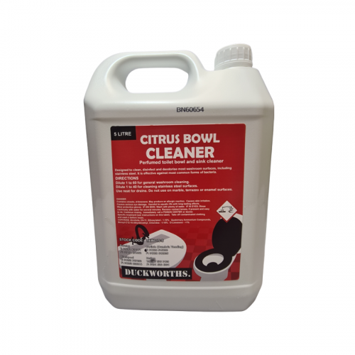 Duckworth CitrusToilet Bowl Cleaner 5L
