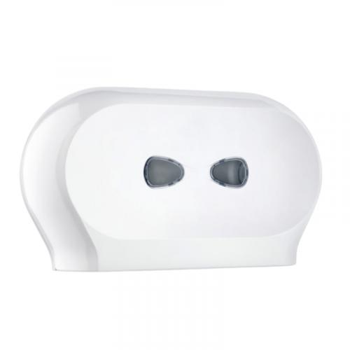 white plastic twin mini jumbo dispenser