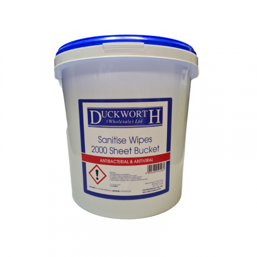 Duckworth Sanitise Disinfectant Wipes in a Bucket - Food Safe