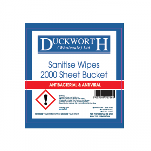 Duckworth Sanitise Disinfectant Wipes Refil - Food Safe