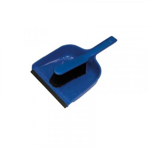 blue dustpan & soft brush set