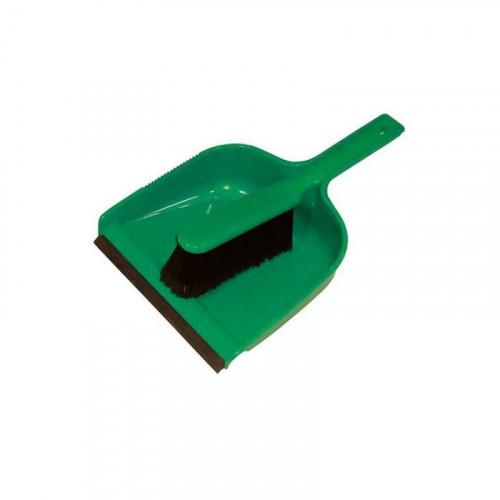 green dustpan & soft brush set