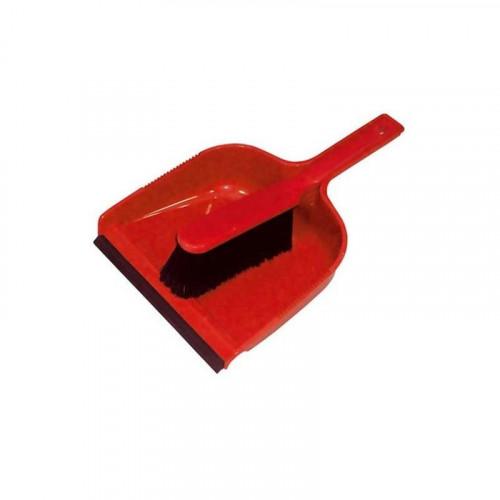 red dustpan & soft brush set
