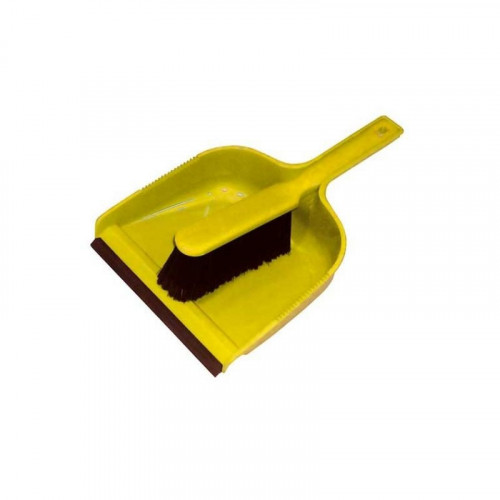 yellow dustpan & soft brush set
